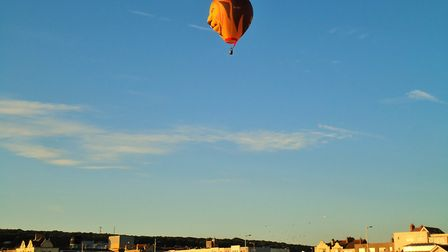 Balloon takes off from the beach. Picture: Nick Page Hayman