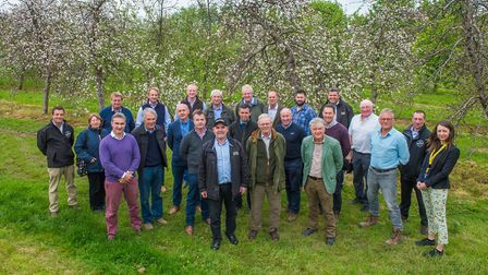 Apple growers visiting Thatchers Cider.