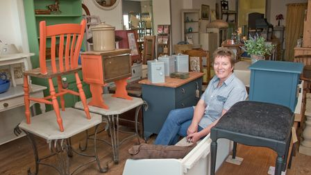 Ziggy Vincent, owner of newly opened Somerset Re-Loved Furniture. Locking Road, Weston-s-Mare.