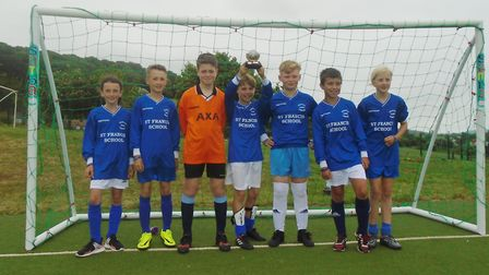 Winning footballers from St Francis Primary School in Nailsea.
