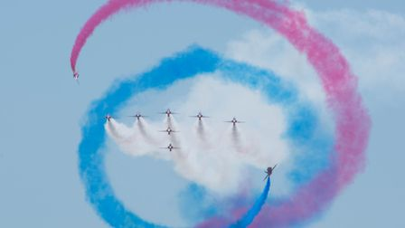 The Red Arrows at Weston Air Festival. Picture: Mark Anstee