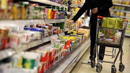 Shoppers say they have started stockpiling. Photograph: Oliver Berg/PA.