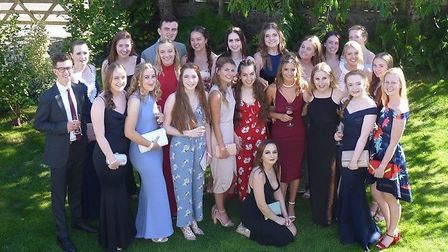 Backwell School's year 13 students at their prom.