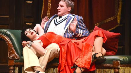 The cast of The Play That Goes Wrong. Picture: Robert Day