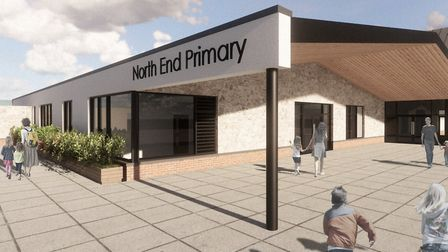 An indicative design of what the new primary school would look like.