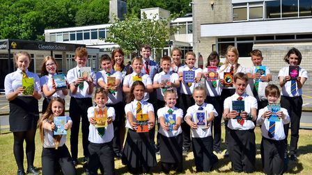Clevedon School pupils hopes to raise cash for a library. Picture: Mike Thie