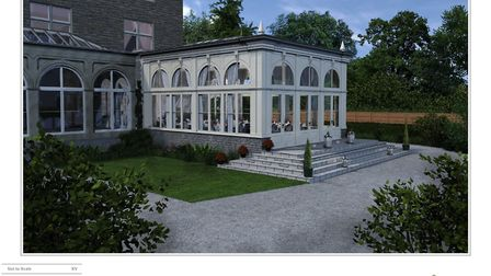 The exterior of Clevedon Hall's planned orangery. Picture: McCarthy/Clevedon Hall