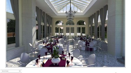 The interior of Clevedon Hall's planned orangery. Picture: McCarthy/Clevedon Hal