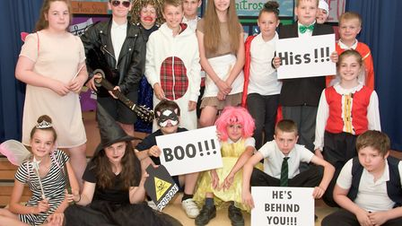 Kingshill Church School, Nailsea. Dress rehearsal of their end of year play.