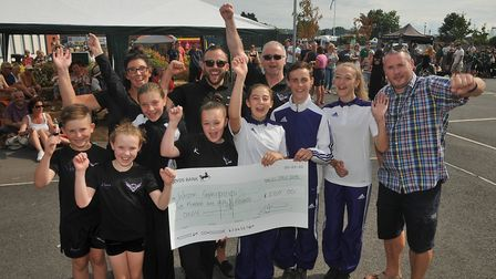 Weston Gymnastics receive an award for £250 from @Worle. Picture: Jeremy Long