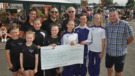Weston Gymnastics receive an award for £250 from @Worle. Picture: Jeremy Long.
