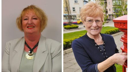 Cllrs Ann Harley (left) and Reyna Knight (right).