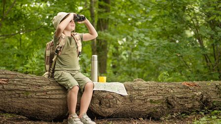 Children enjoy spotting wildlife on a nature trail. Picture: Getty Images/iStockphoto