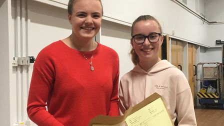 Kitty Jenkins and Annabelle Searle, both 18, got the results they needed to continue their studies.