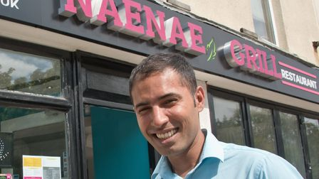 Owner Cameron Hashm stood in front of Naenae Grill and Restaurant. Picture: Mark Atherton