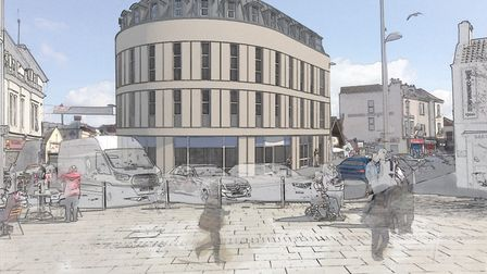 The proposed changes to the former Co-Operative bank building, in Alexandra Parade. Photo by Studio