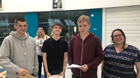 Students picking up their GCSE results at Nailsea School.