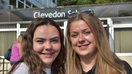 It was all smiles at Clevedon School as exam results were handed out. Picture: Mike Thie