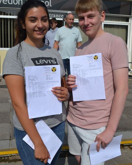 Elina Koulias and Christian Kelsey picked up their results. Picture: Eleanor Young