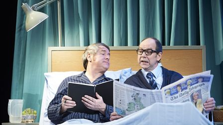 Ian Ashpitel as Ernie Wise and Jonty Stephens as Eric Morecambe. Picture: Geraint Lewis