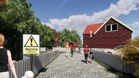 An artist's impression of the nursery plans.