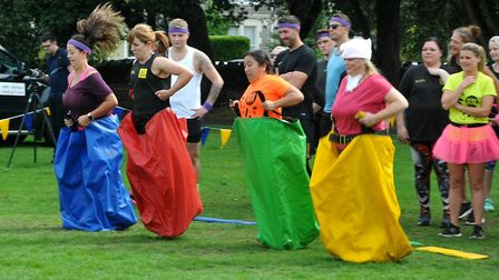 It's A Hospice Knockout in aid of Weston Hospicecare. Picture: Jeremy Long