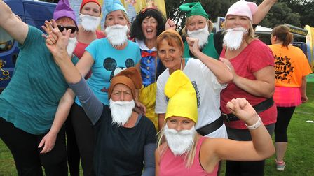 Snow White and the 8 Dwarves Hospice A team. Picture: Jeremy Long