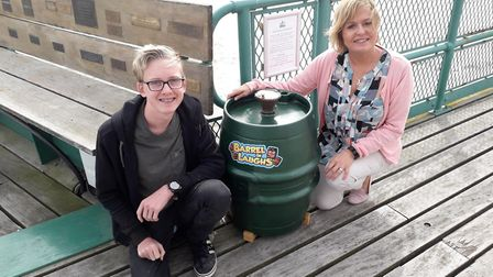 The barrel of laughs is located on Clevedon Pier. Picture: Clevedon Pier and Heritage Trust
