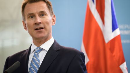 """Britain's Foreign Secretary Jeremy Hunt is worried Brexit skeptics """"have the wind in their sails"""". Picture: Jure Makovec /..."""