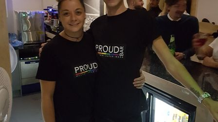 Joel and Mel behind the bar at the new Proud Bar in Weston-super-Mare. Picture: Nigel Briers