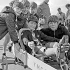 Rain which threatened the annual Scouts' Pedal Car Races on Weston-super-Mare Sea Front held off, an