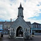 Worle War Memorial, where the clock tower is being repaired. Picture: Worle History Society