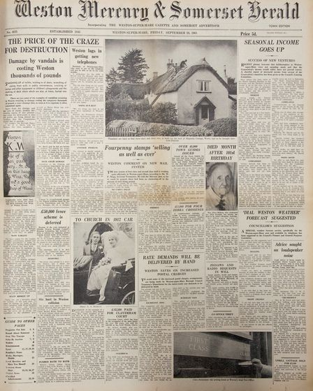 Front Page 20th September 1968 Edition. Picture: WESTON MERCURY