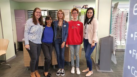 Specsavers staff celebrated Jeans For Genes Day in Clevedon. Picture: Specsavers