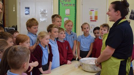 Court de Wyck Primary School's cookery class. Picture: Court de Wyck
