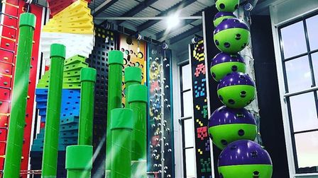 Clip N Climb at Dolphin Square is taking shape.