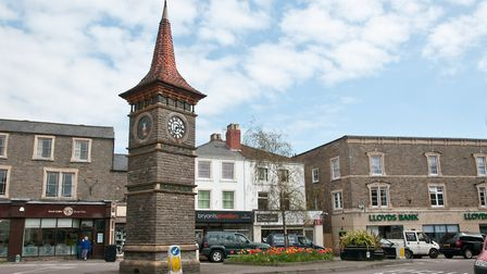 Views of Clevedon Triangle and Clock Tower.
