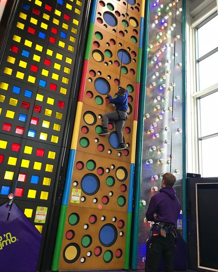Walliscote School pupils got to try out Clip N Climb this week.