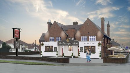 An image of the new-look pub.