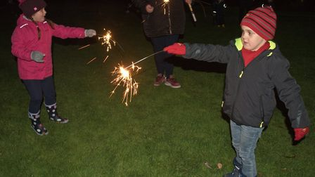 Pictures of people enjoying fireworks at Weston Cricket Club in Devonshire Road. Picture: MARK AT