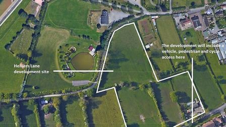 The proposed Helliers Lane development site. Picture: Google Maps