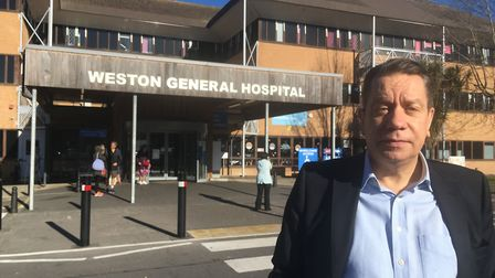 Keith Devine has praised staff at Weston General Hospital. Picture: Keith Devine