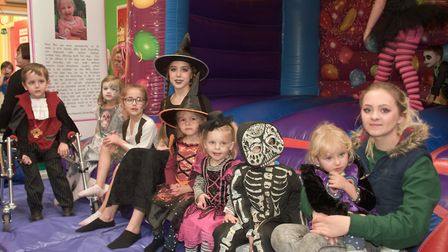 Halloween party, raising money for Rosie-May, Kidsville off Winterstoke Road. Picture: MARK ATHE