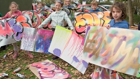 Congresbury Youth Partnership graffiti workshop at the youth club. Picture: MARK ATHERTON