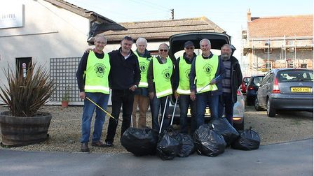 The Lions collected 20 bags of rubbish. Picture: Weston Lions Club