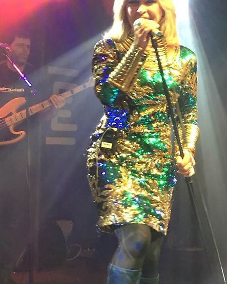 Toyah clearly enjoying being back on stage with her band.