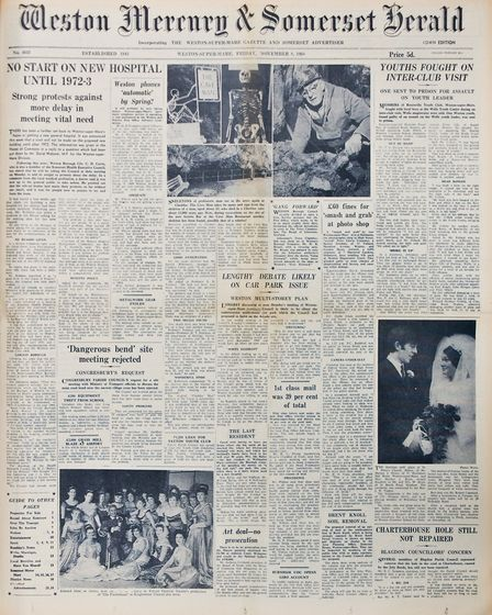 Front Page 8th November 1968 Edition. Picture: WESTON MERCURY