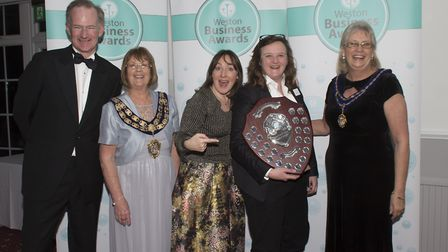 Bev and Sarah Milner Simonds shared the Businesswoman of the Year award. Picture: Andrew Thompson
