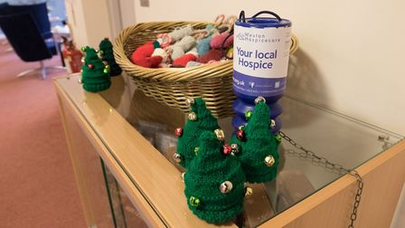 The Christmas-themed gifts on sale in aid of Weston Hospicecare.