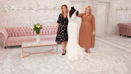 Laura Allen and Sarah Parker from The White Collection Bridal Ltd., at their new branch in Portishea